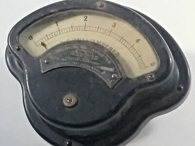 A,) Weston Panel Meter D.c. Mil-Ammeter.used And Old But In Good Shape
