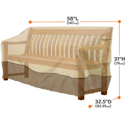 """Classic Accessories Veranda Patio Bench and Loveseat Furniture Storage Cover, S"