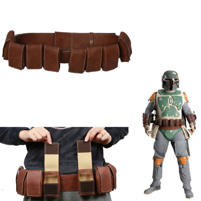 Boba Fett Belt Cosplay Costume Props Pockets Halloween Star Wars Adult XCOSER
