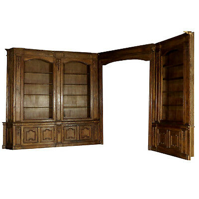 Modular Wainscoting Poplar Wood Manufactured in Italy 18th Century