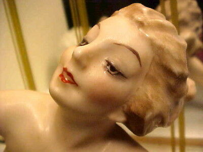 Rare Art Deco 1920's Hutschenreuther Nude Lady w Ball Figurine by Karl Tutter
