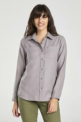 United By Blue W's Pinedale Wool Shirt, Grey, M