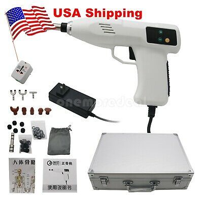 60W Chiropractic Adjust Tool Therapy Gun Spine Activator Correction Massager US