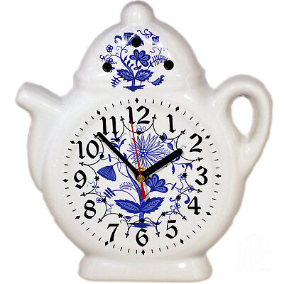 Wall Clock for the Kitchen - Ceramic Watch in Country House Style with