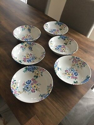 "Floral Design Medium Sized Serving Bowl By Cath Kidston 'Highgate Rose' (9.25""d)"