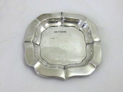 Solid Silver   SQUARE ASHTRAY  hallmarked  SHEFFIELD 1944