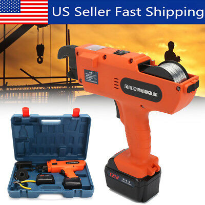 6mm-25mm 12V Automatic Handheld Rebar Tier Tool Building Tying Machine Strapping