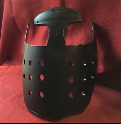 Black Armored Faceplate for SCA WMA LARP Battle Faire Cosplay FREE SHIP!