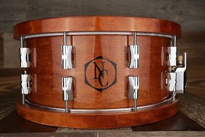 Noble & Cooley CD Maple 14 X 6.5 Maple Snare Drum, Honey Maple Gloss Wood Hoops