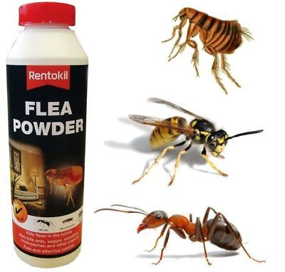 Rentokil Flea Killer powder-Kills Fleas Wasps Ants Cockroaches Insects 300g