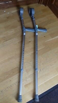 Medical Crutches Aluminium, Lightweight Adjustable by Coopers. Pair