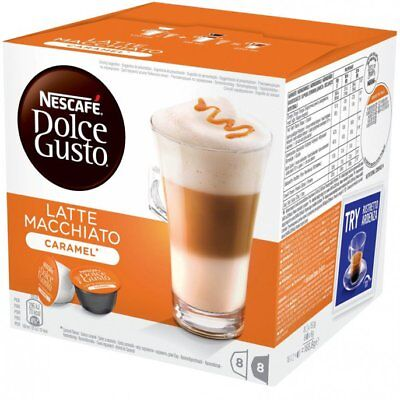 Nescafe Dolce Gusto Caramel Latte Macchiato Coffee Pods 8 Drinks
