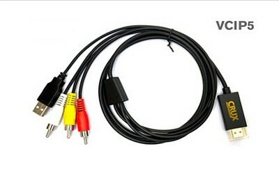 Crux VCIP5 HDMI to Composite Conversion Cable for Iphone 5 Lightning IPad