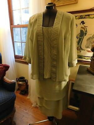 Beautiful Plus Chartreuse Mother Of The Bride Or Groom Or Special Occasion Sz18