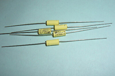 0.001uF 1nF 630V Axial Polyester Capacitors ERO Roederstein MKT1813 Qty 5