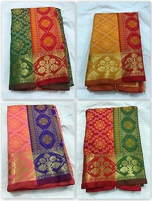 Indian Banarasi silk Sari Kanchipuram Fancy Silk Saree Traditional Ethinic IS