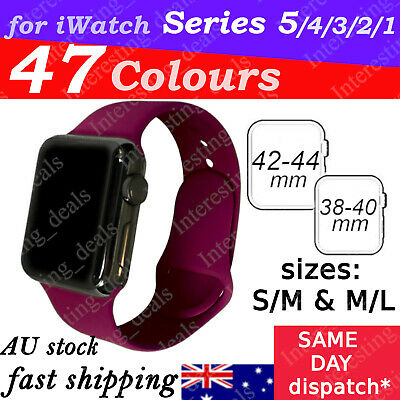 Sports Silicone Bracelet Strap Band For Apple Watch iWatch Series 321, 38/42mm
