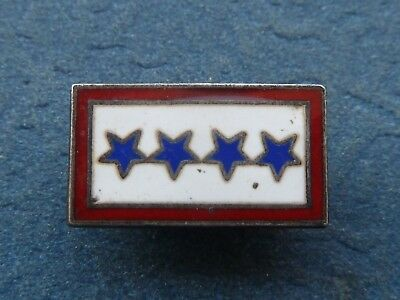 WWII home front sterling son in service pin, four sons
