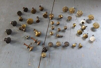 Mixed Lot 44 Antique Vintage  Knob Furniture Dresser Drawer Pull Handle Hardware