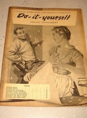 Do it yourself vintage magazine 1940s or 50s black white do it yourself vintage magazine 1940s or 50s black white early edition solutioingenieria Image collections