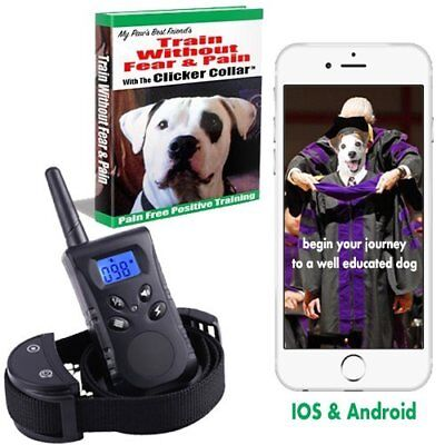 New 2018 Clicker Dog Training Collar With Remote Bundle. The humane dog shock co
