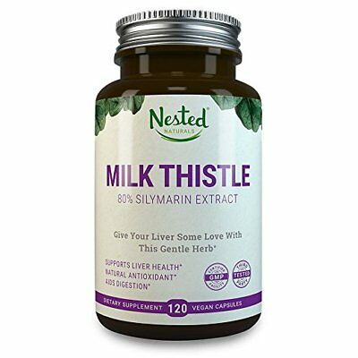 MILK THISTLE Milk Thistle 250 Mg 120 Capsules Pure Seed Extract 80% Silymarin