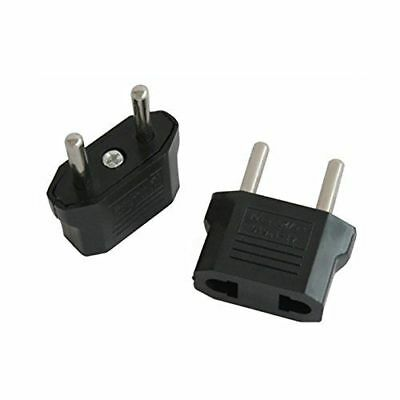 Adaptador de Enchufe de EEUU a Enchufe Europeo 2 Negro - G