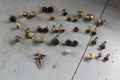 Mixed Lot 32 Antique Vintage  Knob Furniture Dresser Drawer Pull Handle Hardware