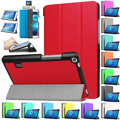 "Smart Case Book Hard Shell Cover For Huawei MediaPad T3/T1 7""/8""/10 (9.6"") Inch"