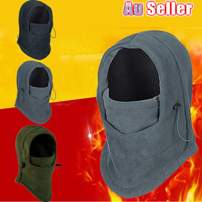 Unisex Thermal Fleece Balaclava Hood Cap Winter Ski Bike Mask Hat Headscarf Warm