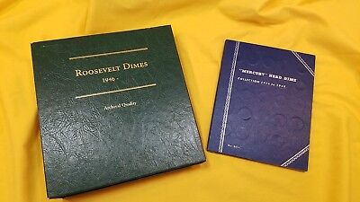 Near Complete 1916 - 1945 Mercury & 1946 -Roosevelt Dime Collections - Key Coins