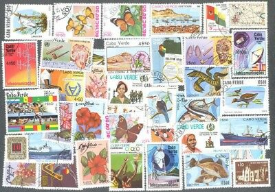 Cape Verde 50 all different stamp collection-thematics-excellent value