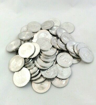 Vintage 1960's Shell Oil Gas Station Mr President Coin Game  Lot of 56 Tokens