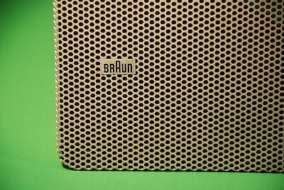 ** CLASSIC BRAUN LV 1020 TRI-AMP SPEAKER GRILLES-- Very Good Condition **
