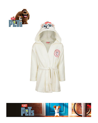 Genuine Girls The Secret Life Of Pets Fleece Dressing Gown Bath Robe Size 2-9 Y