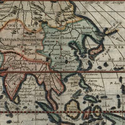 Asia Arabia 1760 charming miniature old map hand color Macquart engraved