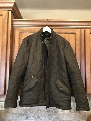 Barbour Powell Quilted Jacket Olive Size S Small