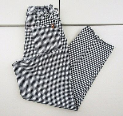 NWT Chef Designs Hounds Tooth Men's Side Elastic Waist Pants Sz 30X29 A518
