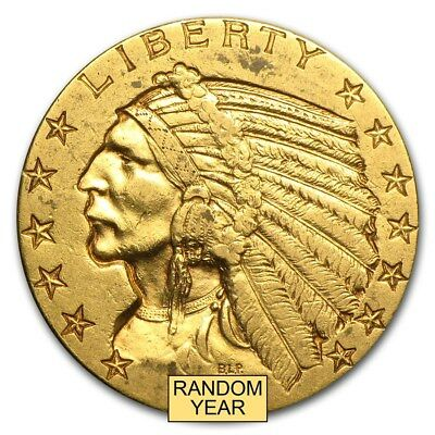 SPECIAL PRICE! $5 Indian Gold Half Eagle XF (Random Year) - SKU #168070