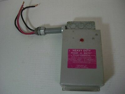 PHASE-A-MATIC PAM-600HD Phase Converter, Static, 3-5 HP
