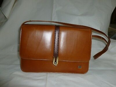 VINTAGE BARKER LEATHER BAG , FROM THE MAKER OF BARKER SHOES