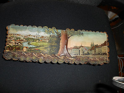 Extremely Rare 1915 German Carved, Painted, and Decoupage Box