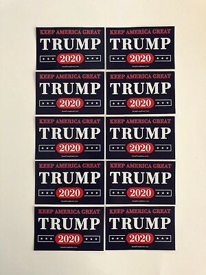 Trump 2020  Stickers....Keep America Great  ..Vinyl Decals ...10 Pack