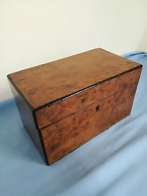 Victorian tea caddy. vintage box with lift up lid