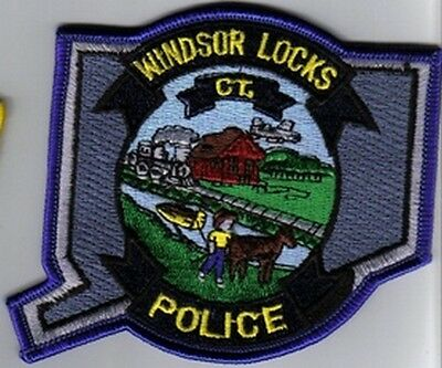 Windsor Locks Ct Conn Police Dept Wpd  Pd Train Horse Barge Plane  State Shape