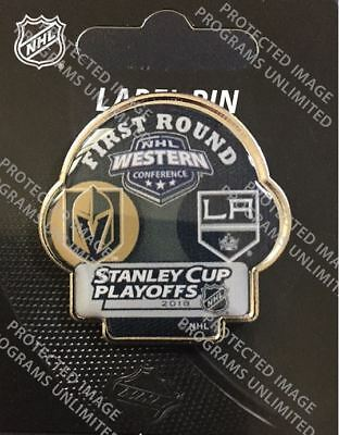 Vegas Golden Knights Los Angeles Kings 2018 Nhl Playoffs Dueling Pin 1St Round