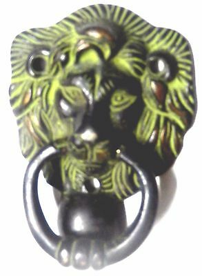Lion Head Design Antique Vintage Style Handmade Brass Door Knocker Door Pull