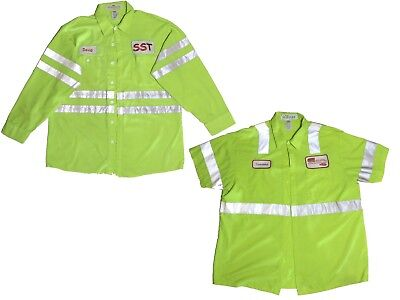 Cintas High Visibility HV Refective Shirts Short and Long Sleeve Pick Your Size