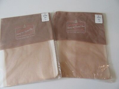 2 Pair Vintage Valcort Nylon Stockings,10 1/2, Nude, Seamless-New in Package