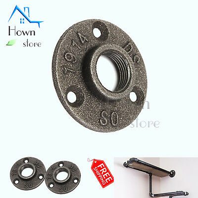 Black Malleable Iron Flange Fitting Floor Plumbing Threaded Old Fashion 1/2 inch
